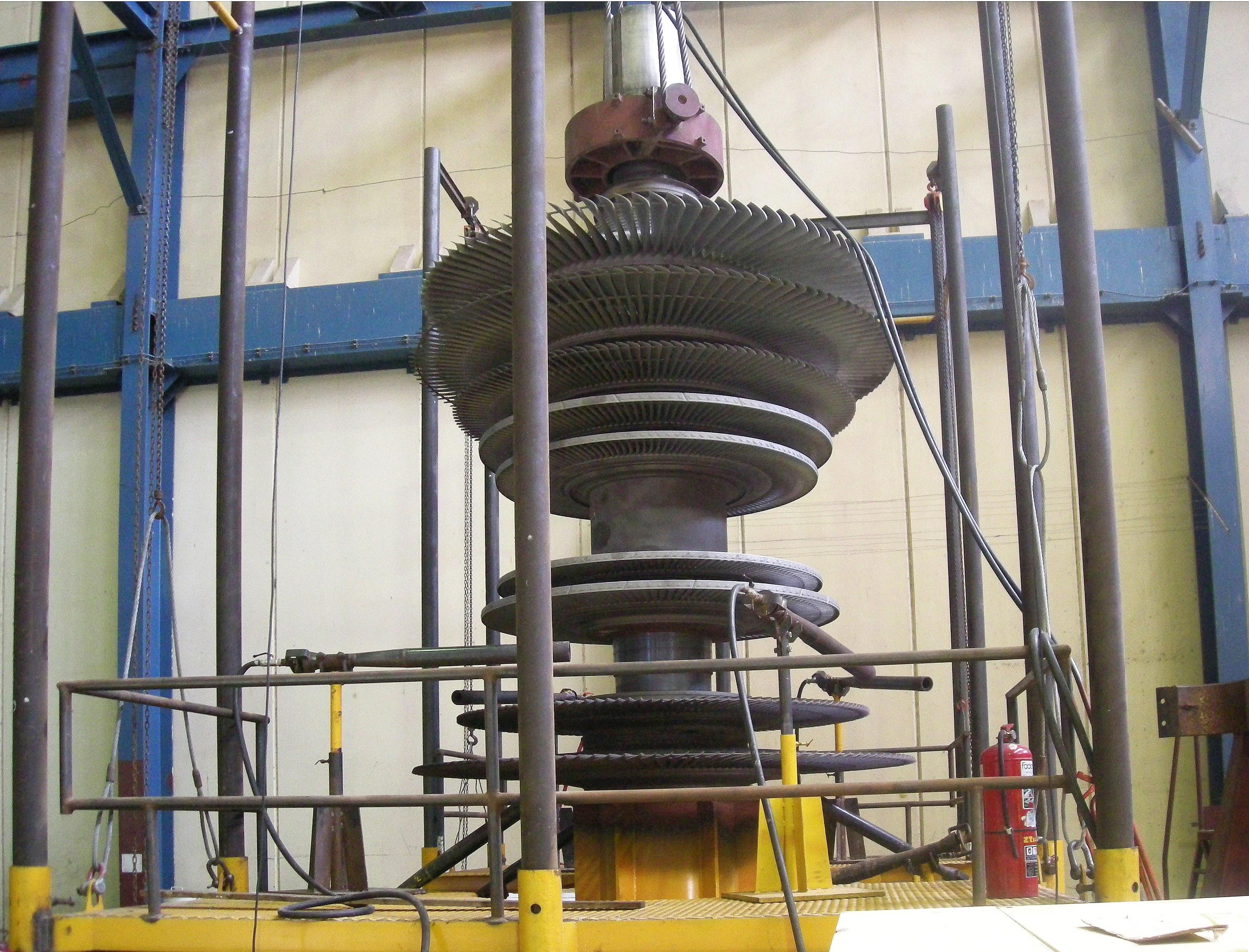 Разборка ротора вертикально